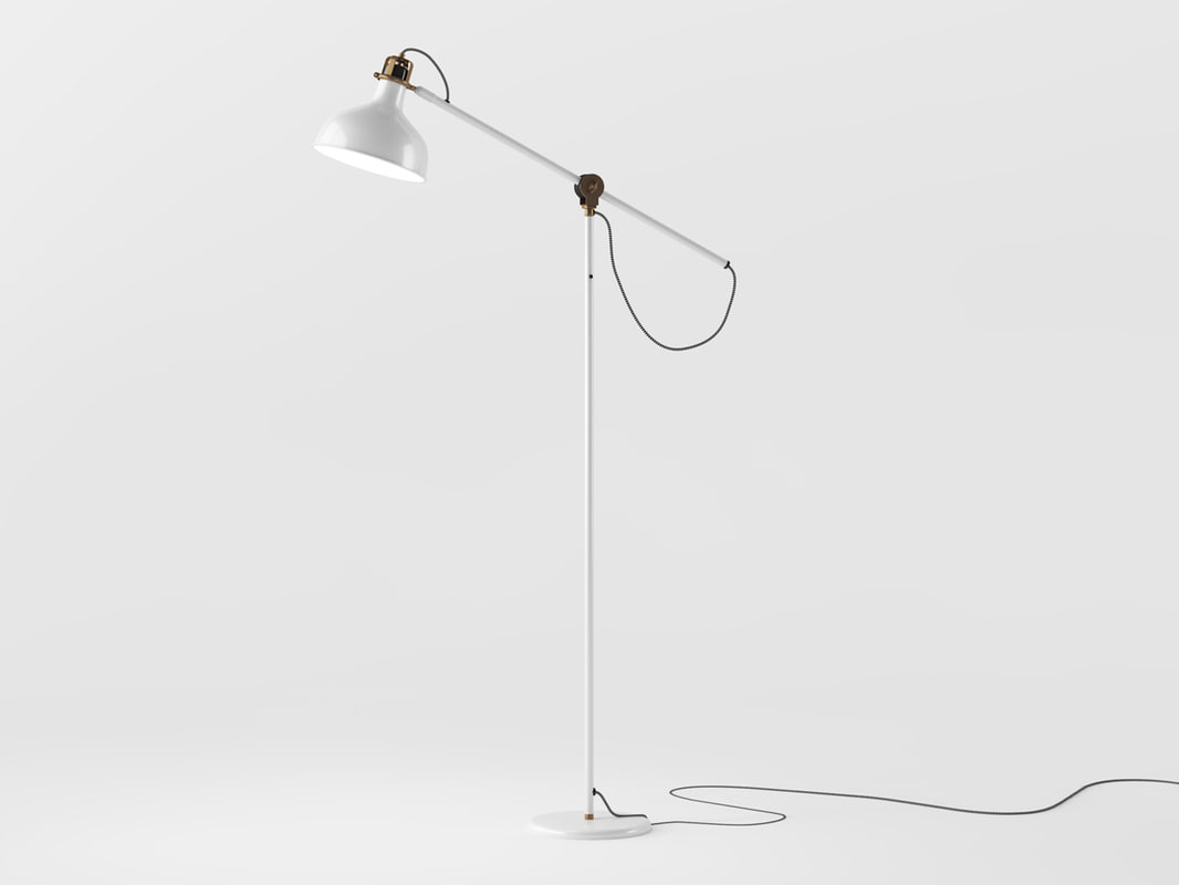 3d ikea ranarp ground lamp model