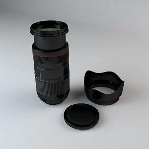 35mm camera lens 75-300mm 3d model