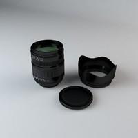 35mm camera lens 18-125mm 3d model