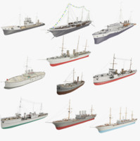 steamships ship 3d model