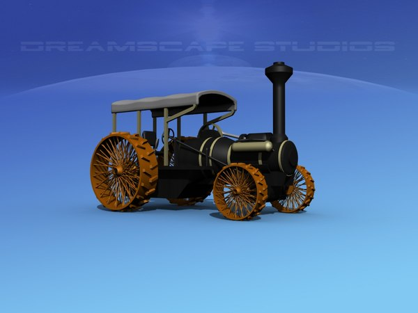 3d model tractor steam