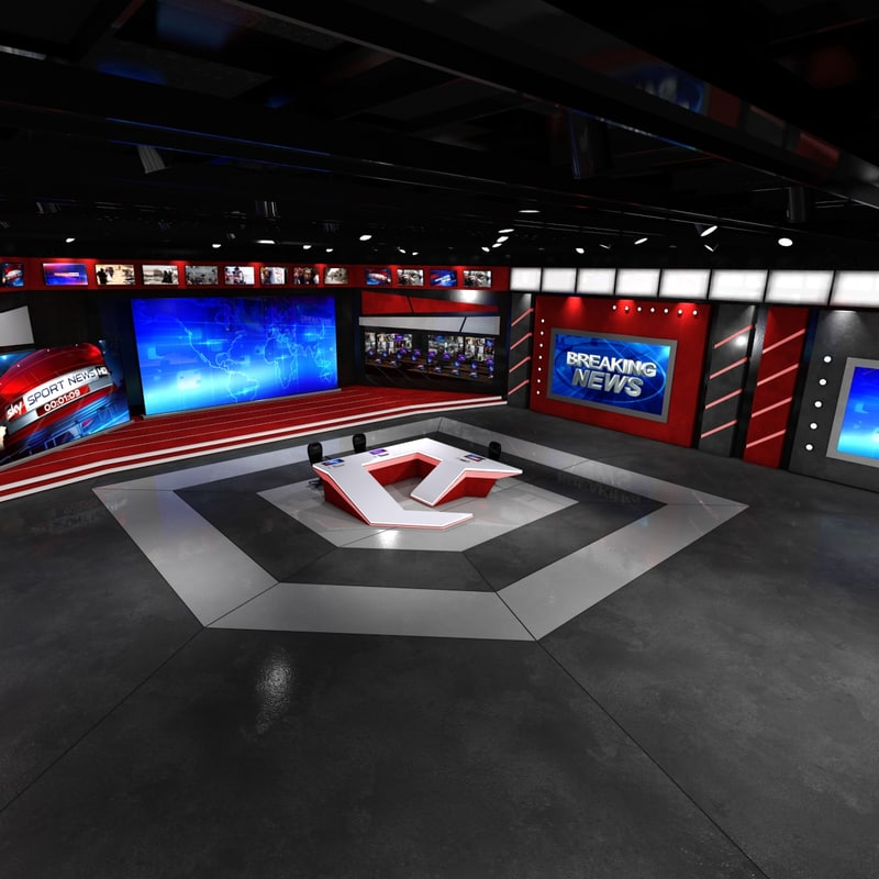 virtual set studio 3d obj