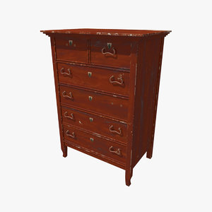 3d model old commode