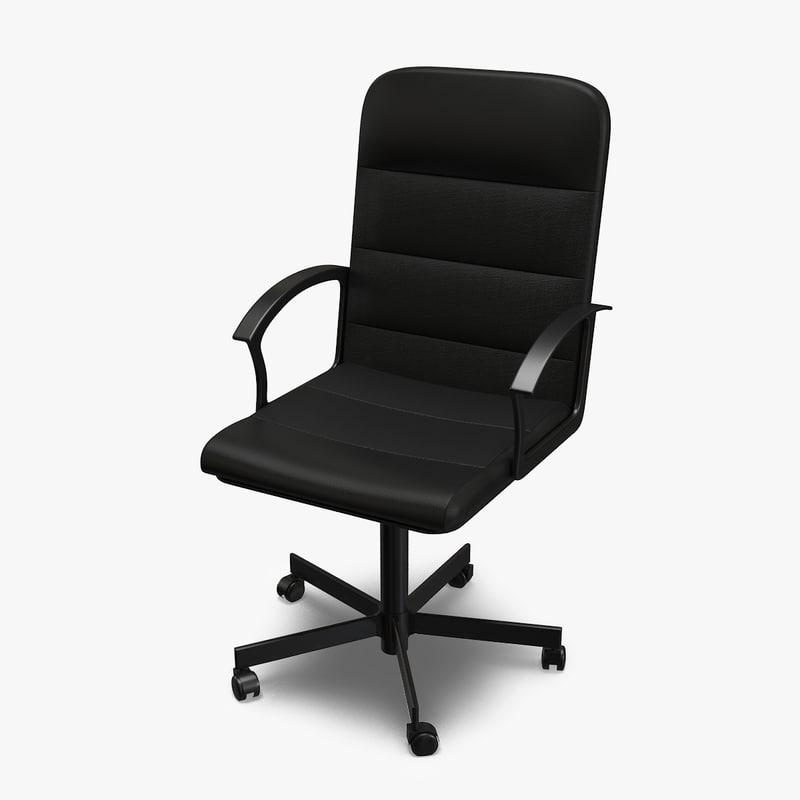 3d office chair