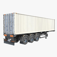 Trailer With Container Refrigerator