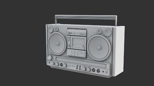 cassette player 3d obj