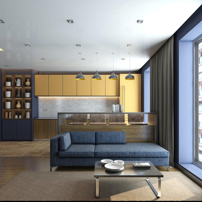 interior scene 3d ma