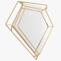 3d diamond small mirror
