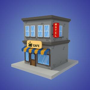 fbx stylized cafe