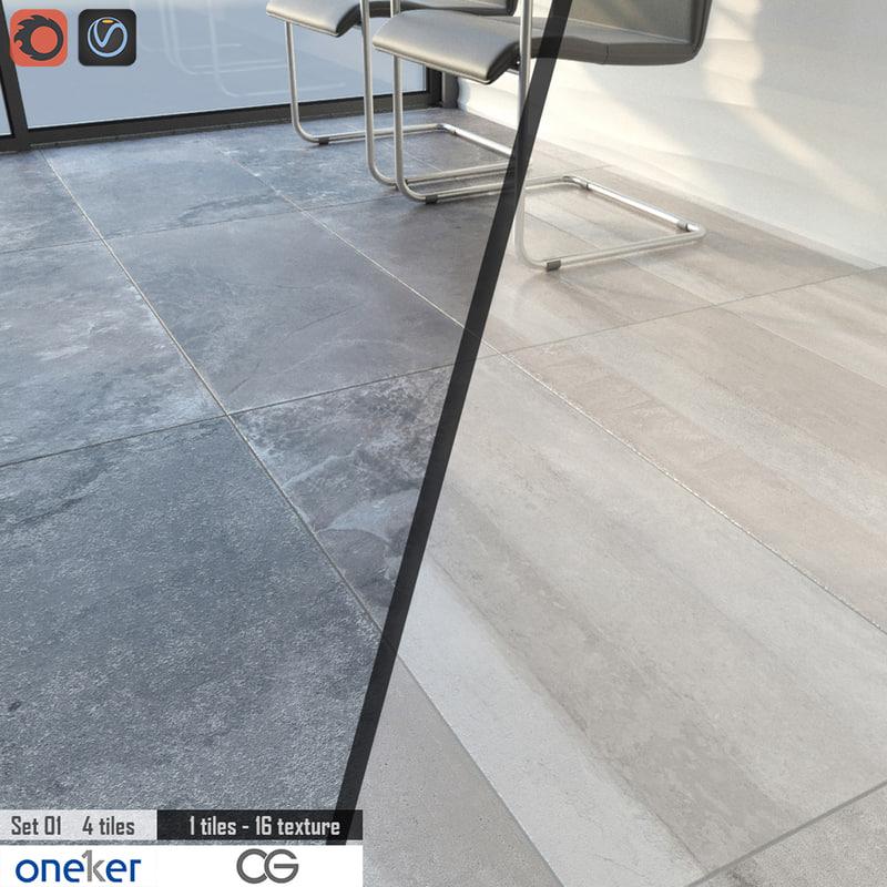 3d model of tile oneker ardesia stratos