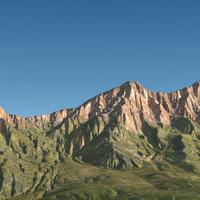 3d mountain range terrain landscape