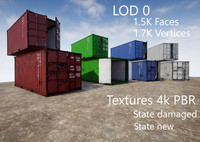 Container 20ft with 2 LOD