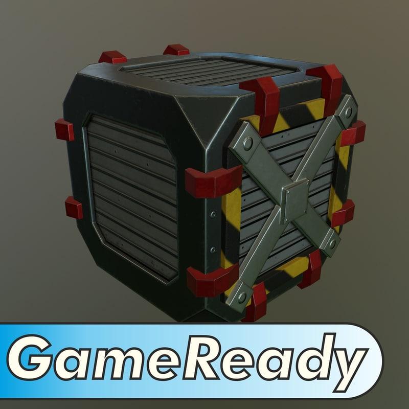 metal crate obj
