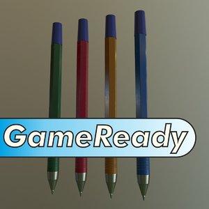 3d model ballpoint pen