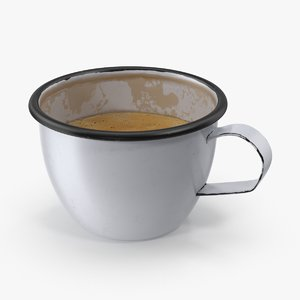 3d coffee mug 02 half model