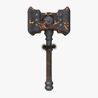 3d model doom hammer