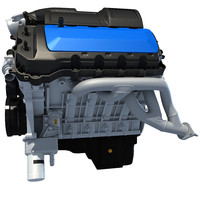 3d model generic v8 engine