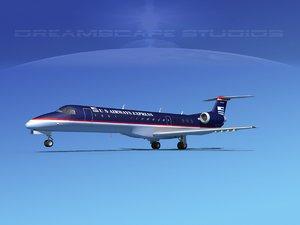 embraer erj 145 3d max