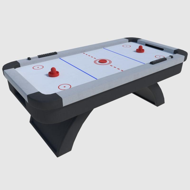 air hockey - 3d model