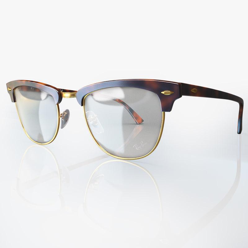 3d model eyeglasses clubmaster rb5154