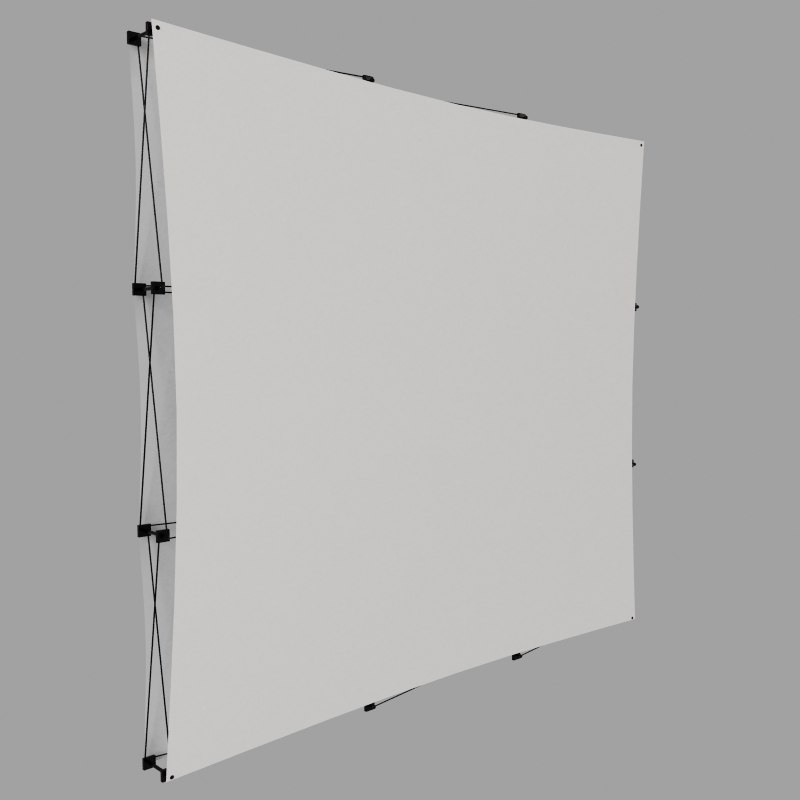 3d model of display wall