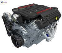 chevrolet corvette v8 engine 3d max