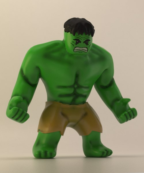 3d green giant toy figure model