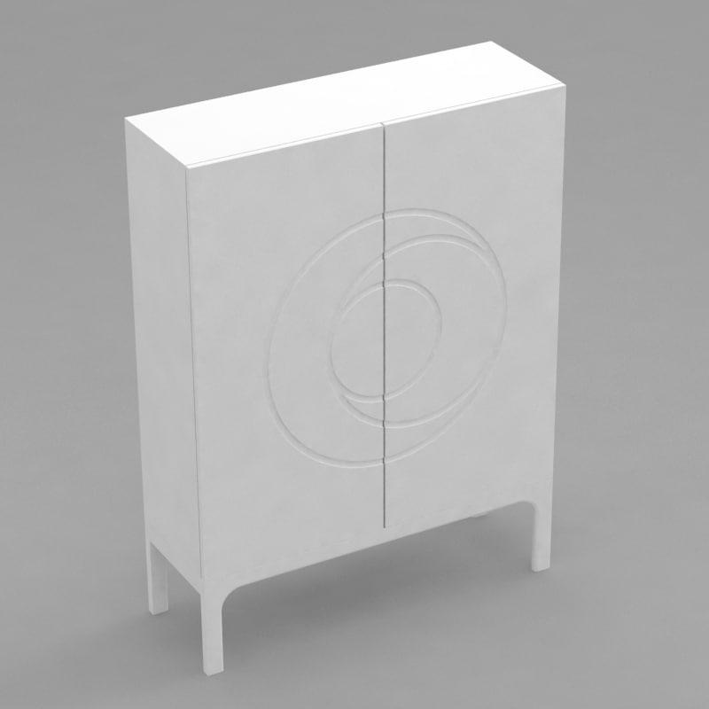 ikea sjovik buffet 3d model