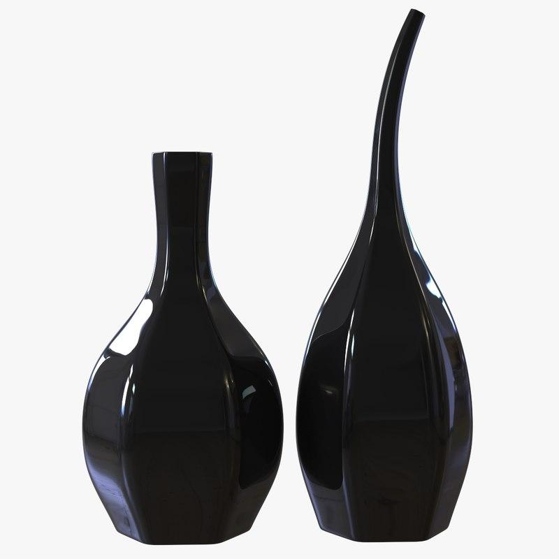 2 flute vases 3d max