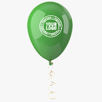 balloon ribbon 3d model