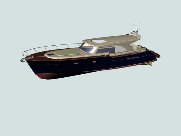 3d motor yacht model