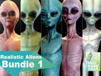 3d model realistic aliens 1