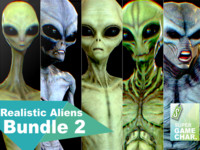 realistic aliens 2 3d model