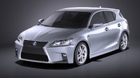 3d model of 2016 lexus ct