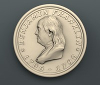 benjamin franklin 3d model