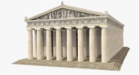 obj parthenon temple landmark
