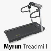 myrun treadmill technogym 3d max