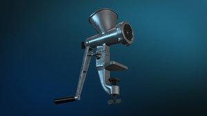 3d model of meat grinder