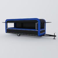 3d car trailer kiosk model