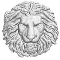 3d lion head