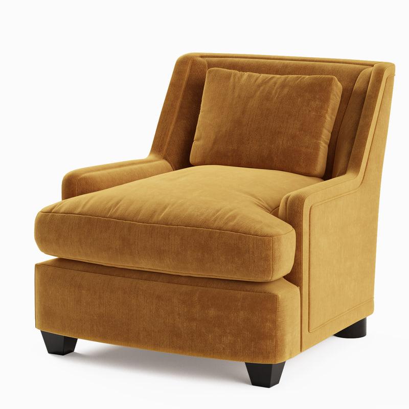 3d model baker colin cab chair
