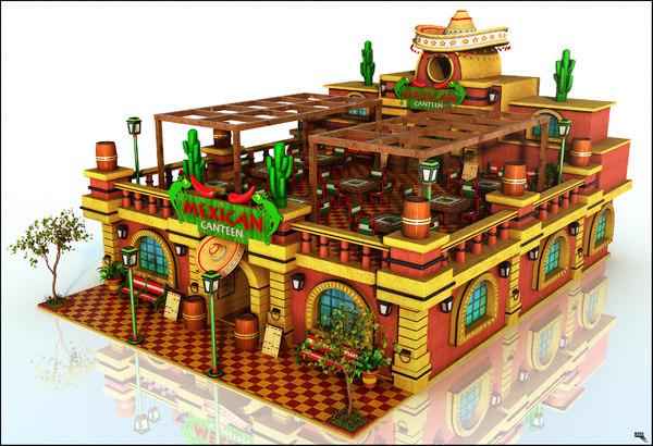 canteen mexican 3d max