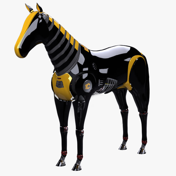 gallop robot horse rigged 3d lwo