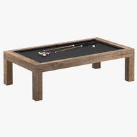 james perse billard pool table 3d model
