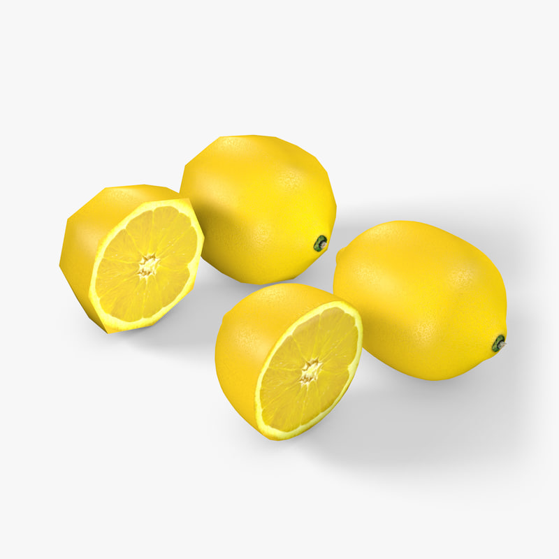 3d model lemon cut