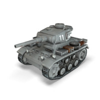3d cartoon panzer iii