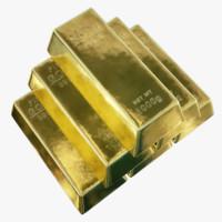 3d 4k gold bar
