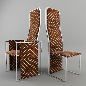 3d chairs willy rizzo