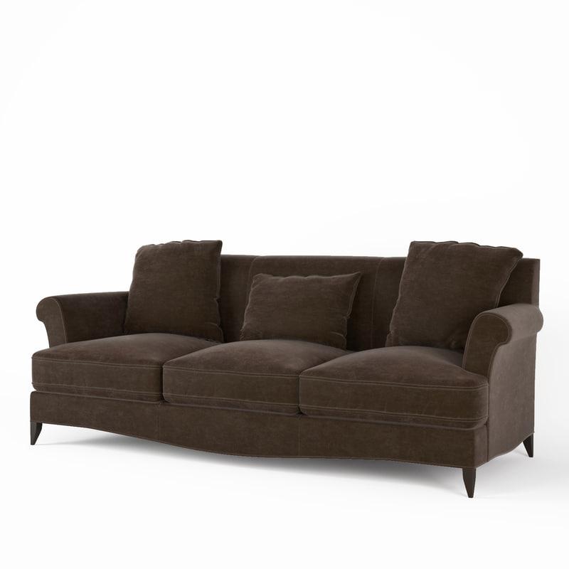 3d baker sofa 6118 model