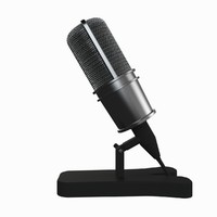 microphone desktop 3d model